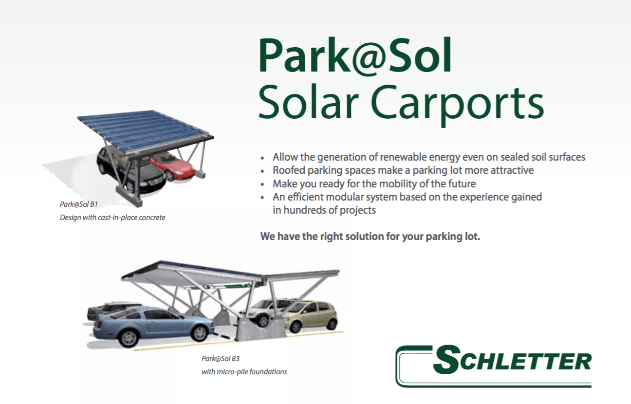 Solcelle carport garage anlæg stål og alu