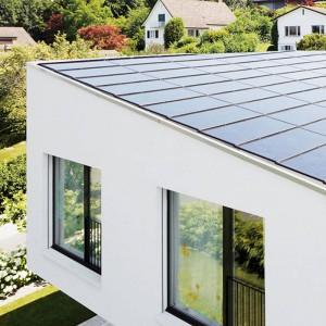 Solcelle paneler integreret i flat tag