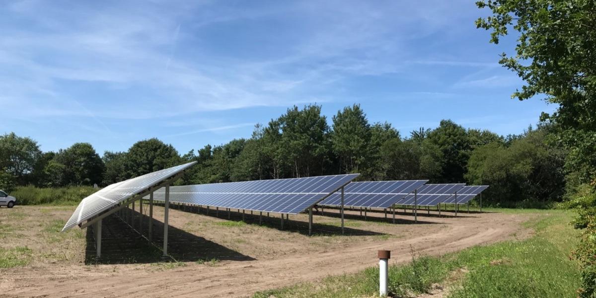 solcellepark givskud jordmontage polykrystallinske