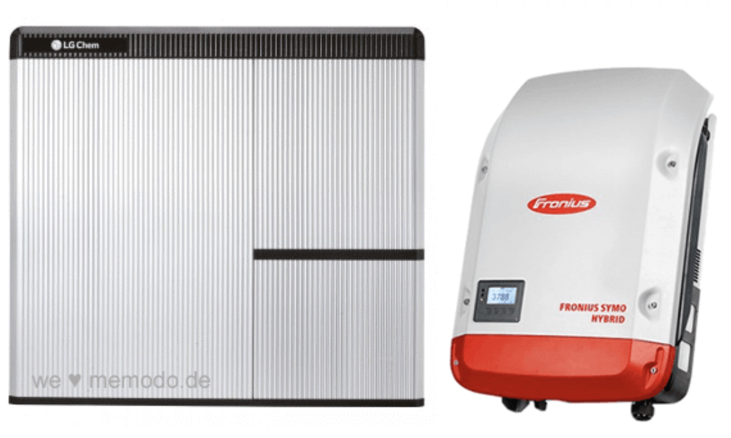 Fronius inverter og LG chem batteri