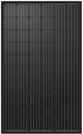 300W sort mono solcelle