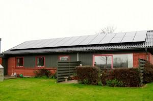 solcelle solcelleanlæg 30 stk solpaneler