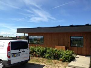 solcelle solcelleanlæg bolig fladt tag