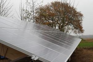 solcelle solcelleanlæg jordplaceret anlæg østjylland