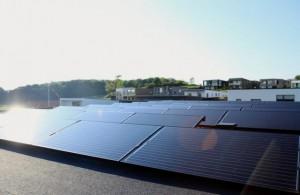 solcelle solcelleanlæg monokrystalin fladt tag-risskov