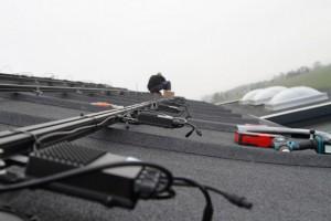 solcelle solcelleanlæg montage tagpap skinner