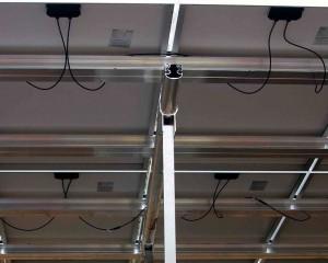 solcelle solcelleanlæg montagesystem set nede fra