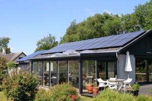 solcelle solcelleanlæg stort privat bolig anlæg