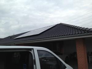 solcelle solcelleanlæg villa monokrystalin solcellepaneler